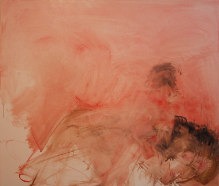 Max & Hannah, 2011, oil on linen, 66 x 78 inches
