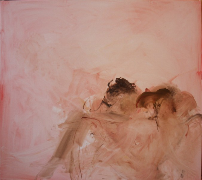 Max & Hannah, 2011, oil on linen, 67 x 76 inches
