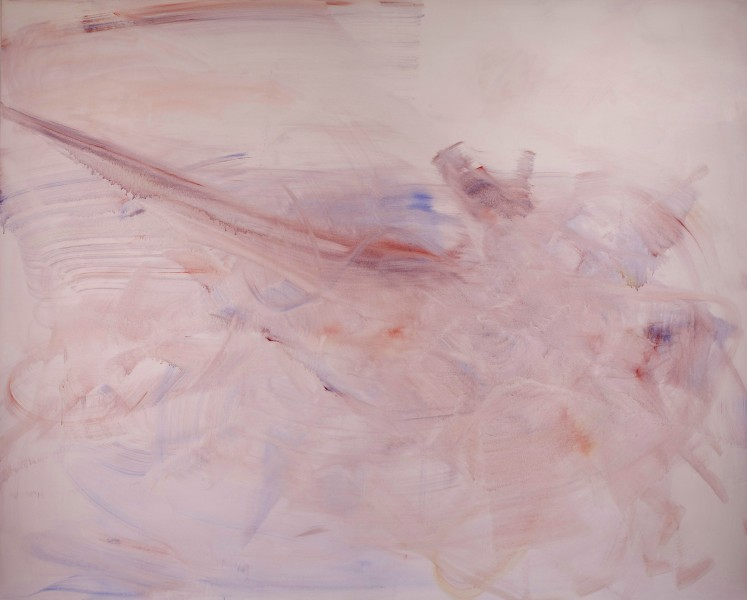 Yin, (Yue) 2011, watercolor on canvas, 88 x 110 inches