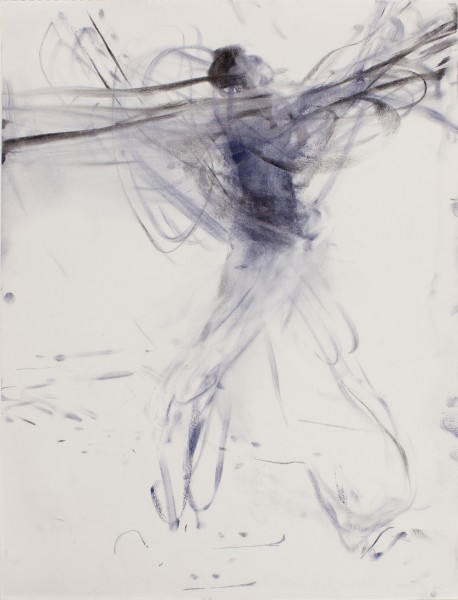 Aaron, (Boone, NY Yankees) 2003, pastel and charcoal on paper, 24 x 18 inches