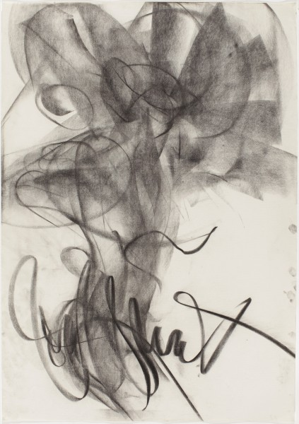 Cedering #9, 1986, pastel and charcoal on paper, 39.5 x 27.5 inches