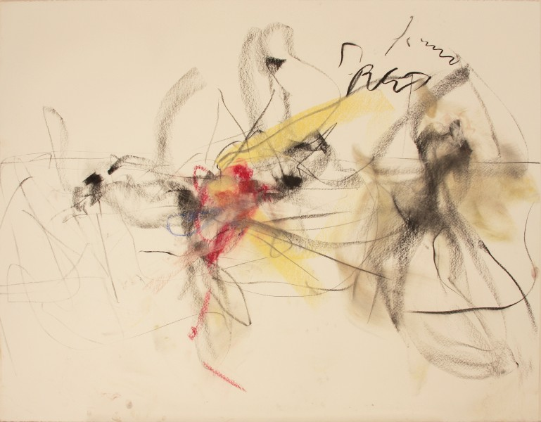 I Don't Want to Love #3, Mark Morris Dance Group, 1997, pastel and charcoal on paper, 38.25 x 49 inches