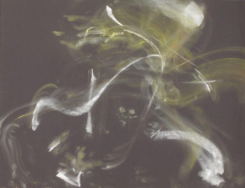 Nicole, (Von Arx) 2013, pastel on black paper, 22 x 30 inches