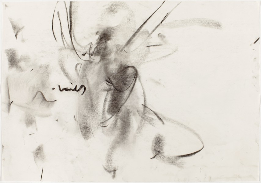#16, Parsons Dance Company, 1994, charcoal on paper, 27.5 x 39.5 inches