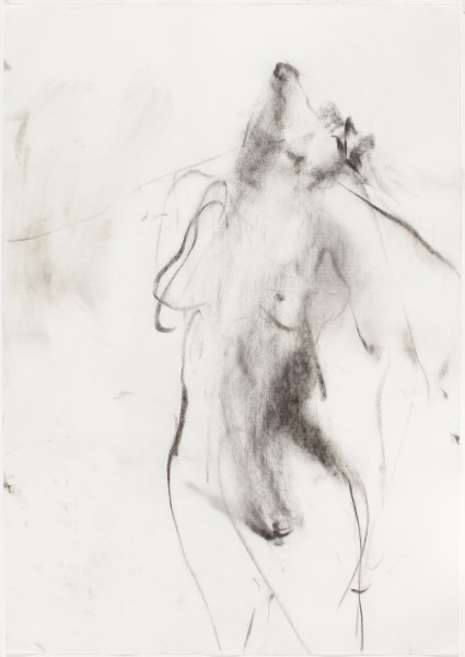 Rebecca, 1996, charcoal on paper, 39.5 x 27.5 inches