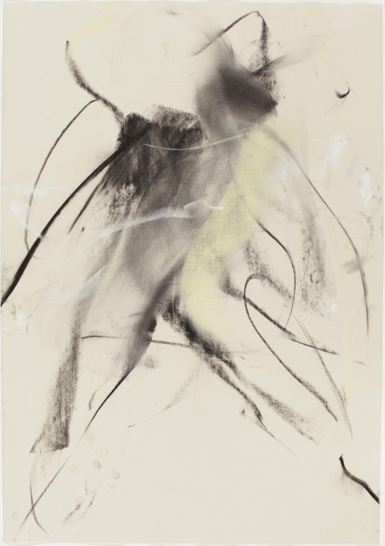 Sonja #17, (Perreten), 1998, pastel and charcoal on paper, 39.5 x 27.5 inches