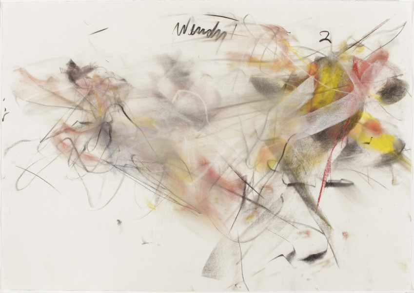 Wendy #21, (Rogers) 2000, pastel and charcoal on paper, 39.5 x 27.5 inches