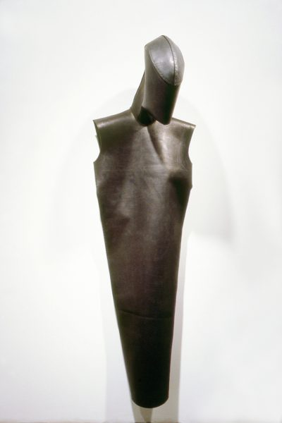Untitled, 1982, Sewn cowhide, 82 x 24 x 21 inches