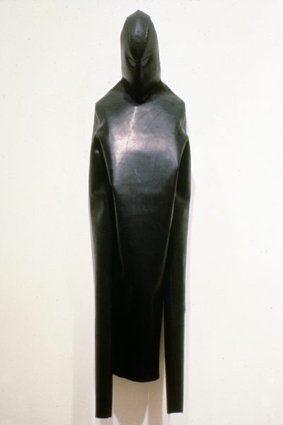 Untitled, 1981, Leather and plexiglass, 78 x 20 x 11 inches