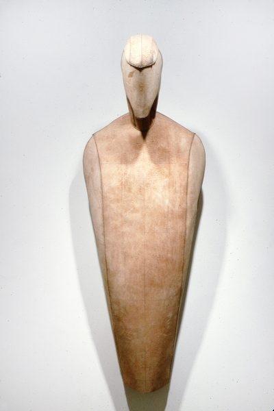 Unititled, 1982, Sewn cowhide, 83 x 30 x 31 inches
