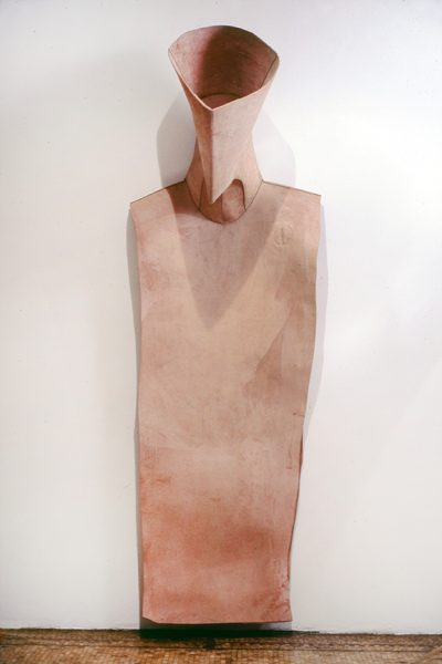 Untitled, 1980, Sewn cowhide, 98 x 32 x 30 inches