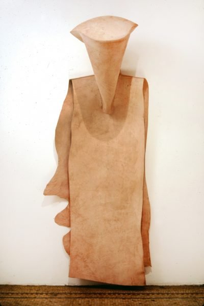 Untitled, 1980, Sewn cowhide, 89 x 38 x 25 inches