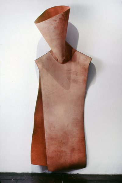 Untitled, 1980, Sewn cowhide, 88 x 32 x 23 inches