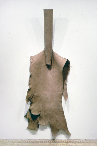 Untitled, 1981, Sewn cowhide, 104 x 44 x 8 inches
