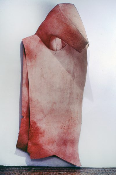 Untitled, 1980, Sewn cowhide, 96 x 36 x 26 inches