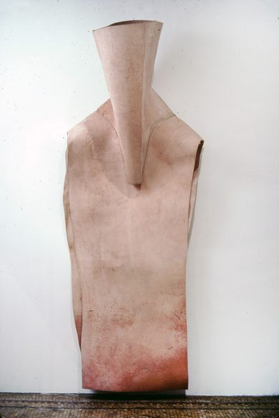 Untitled, 1980, Sewn cowhide, 96 x 36 x 24 inches
