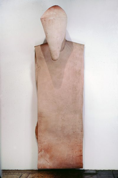 Untitled, 1980, Sewn cowhide, 93 x 30 x 25 inches